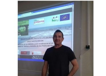 Presentation of the LIFE-Salinas project to the students of the Master's degree in Wildlife Management