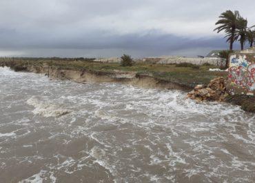 El temporal 'Gloria' afecta al Parque Regional y al vallado perimetral